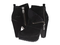 Blowfish Vaughn Black Fawn Pu Faux Shearling Women's Zip Boots