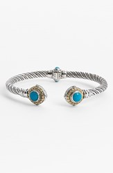 Konstantino Women's 'Hermione' Hinged Cuff Silver Turquoise