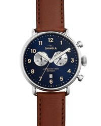 Shinola 43Mm Canfield Chronograph Watch Brown