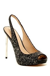 Imagine Vince Camuto Pavi Slingback Peep Toe Pump Black