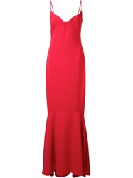 Nicole Miller Sweetheart Neck Dress Red