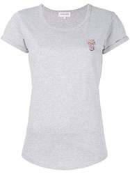 Maison Labiche Heart Cigarettes T Shirt Grey