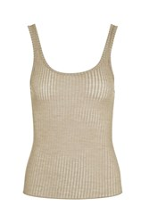 Topshop Ribbed Vest Stone