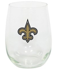 Memory Company New Orleans Saints Stemless Wine Glass Clear