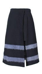 Tibi Needle Felted Striped A Line Skirt