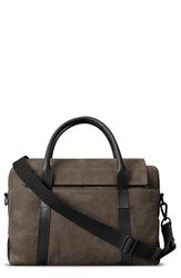 Shinola Nubuck Sport Briefcase Brown Deep Brown