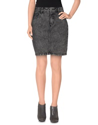 Selected Femme Denim Skirts Grey