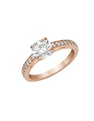 Swarovski Attract Solitaire Ring Rose Gold