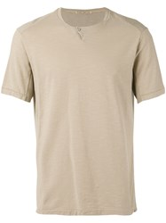Transit Button Detail T Shirt Nude Neutrals