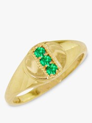 London Road 9Ct Gold Emerald Signet Ring