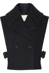 3.1 Phillip Lim Double Breasted Wool Blend Vest Midnight Blue