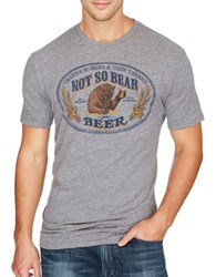 Lucky Brand Bear Printed Cotton Tee Grey