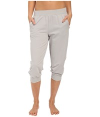 Yummie Tummie Baby French Terry Capris Light Gray Women's Capri