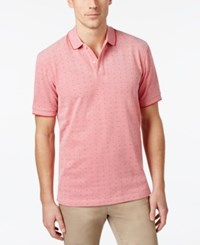 Club Room Men's Dot Pattern Performance Polo Only At Macy's Melone