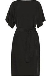 Raoul Bonnie Cutout Crepe De Chine Midi Dress Black