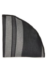 Alexander Olch Men's Stripe Linen Pocket Round