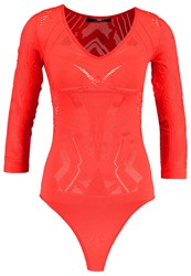 Elisabetta Franchi Long Sleeved Top Red