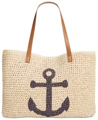 Style And Co Co. Anchor Straw Beach Bag Only At Macy's
