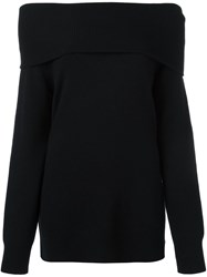 Alexander Wang T By Off Shoulder Jumper Black