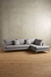 Anthropologie Linen Edlyn Right Sectional Light Grey