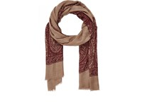 Luciano Barbera Men's Paisley Lightweight Cashmere Twill Scarf Red