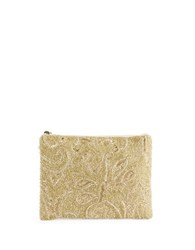 Mary Frances Beaded Swirl Clutch Champagne