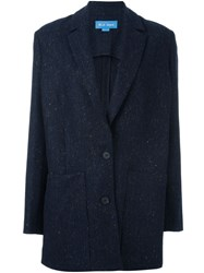 Mih Jeans 'Dylan' Relaxed Fit Blazer Blue