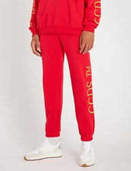Gcds Relaxed Fit Cotton Jersey Jogging Bottoms Red