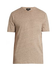 A.P.C. Jimmy Cotton Jersey T Shirt Beige
