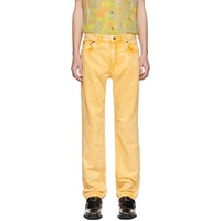 Y Project Yellow Denim Double Seam Jeans
