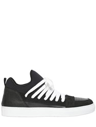 Kris Van Assche Leather And Neoprene Sneakers