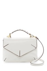 T Shirt And Jeans Pyramid Stud Handle Satchel White