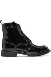 Church's Angelina Studded Glossed Leather Ankle Boots Black