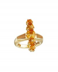 Silvia Furmanovich Marquetry Brown Wood And Citrine Ring