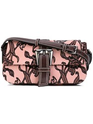 Rochas Rob Shoulder Bag Women Calf Leather One Size Pink Purple