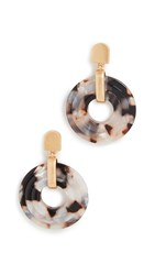 Madewell 3D Double Drop Earrings Shell Tortoise