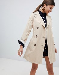 Missguided Classic Trench Coat Beige