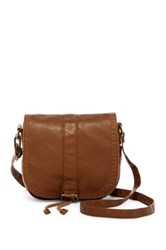 T Shirt And Jeans Topstitched Crossbody Brown