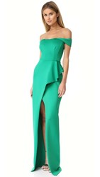 Black Halo Padma Dress Emerald