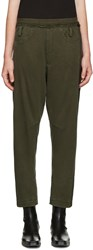 Haider Ackermann Green Round Pockets Lounge Pants