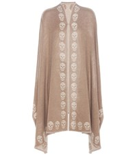 Alexander Mcqueen Reversible Cashmere Cape Brown
