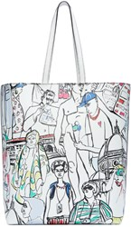 Emilio Pucci Multicolor Leather Vintage Print Tote