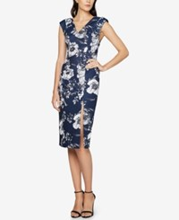 Fame And Partners Floral Print Sheath Dress Stone Flower