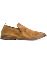 Marsell Slouched Slip On Loafers Leather Suede Rubber Brown