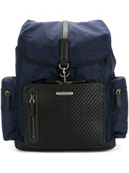 Ermenegildo Zegna Wide Compartment Backpack Blue