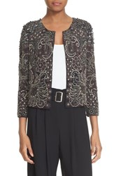 Parker Women's 'Valentina' Embellished Collarless Jacket