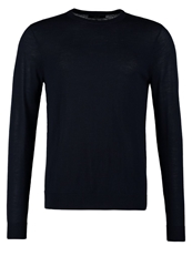 Villain Calais Jumper Navy Dark Blue