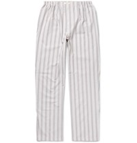 Schiesser Alfred Striped Cotton Pyjama Trousers White