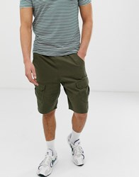 Another Influence Cargo Shorts In Khaki Green