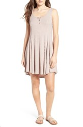 Lush Women's Ribbed Skater Dress Sphinx